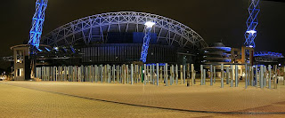 Sydney Olympic Park, Telstra Stadium at night