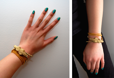 crafty jewelry: diy snake wrap bracelet