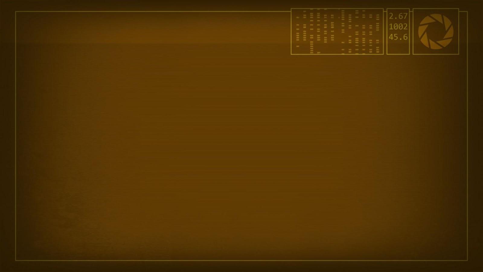 Aperture Brown Science Screen