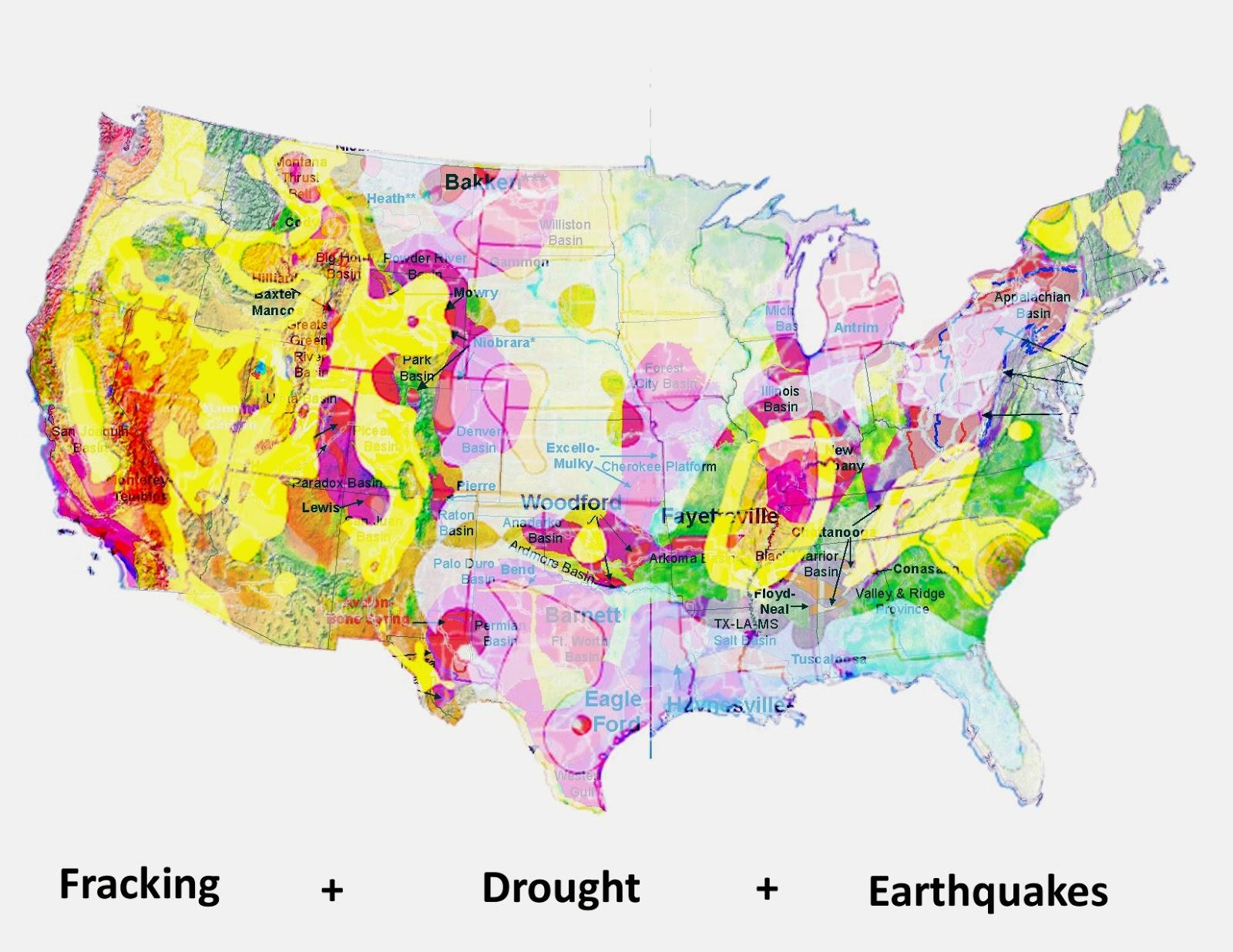 7 fracking dought earthquakes