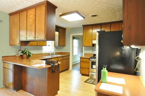 finding the perfect paint for kitchen cabinets (and pink granite