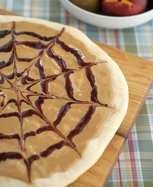 Peanut Butter and Jelly Pizza ~ Heat Oven to 350