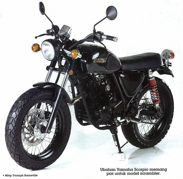Kepincut Tampilan Scrambler - Yamaha Scorpio 2002 title=