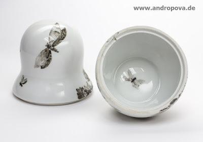 Matroschka, klein, offen - Porzellan, handverziert von Anna Andropova