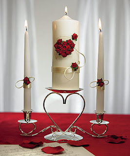 Romantic Pillar Candle Wedding Centerpieces