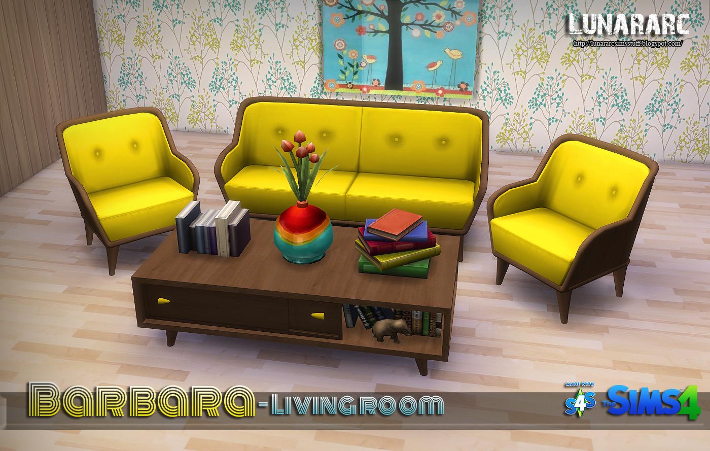 Lunararc Sims : Barbara Living room Set