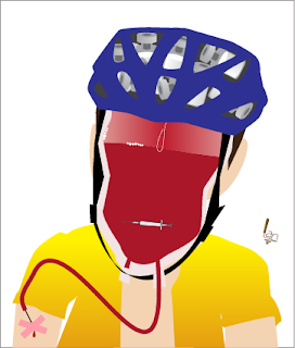 Lance Armstrong symbolic caricature