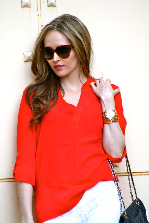 Michael Stars Blouse-Prada Sunglasses-Personal Style Blogger-Fashion Blogger
