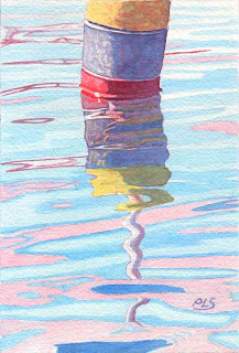 "Buoy With Reflections 5"" x 7"""