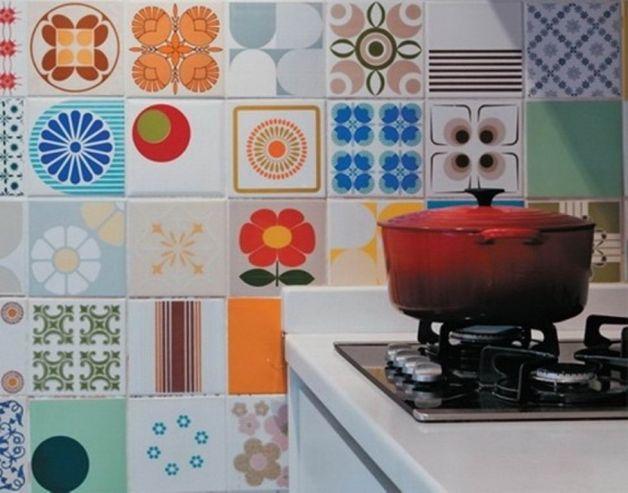Come decorare le pareti della cucina e non solo - Decorare le piastrelle ...