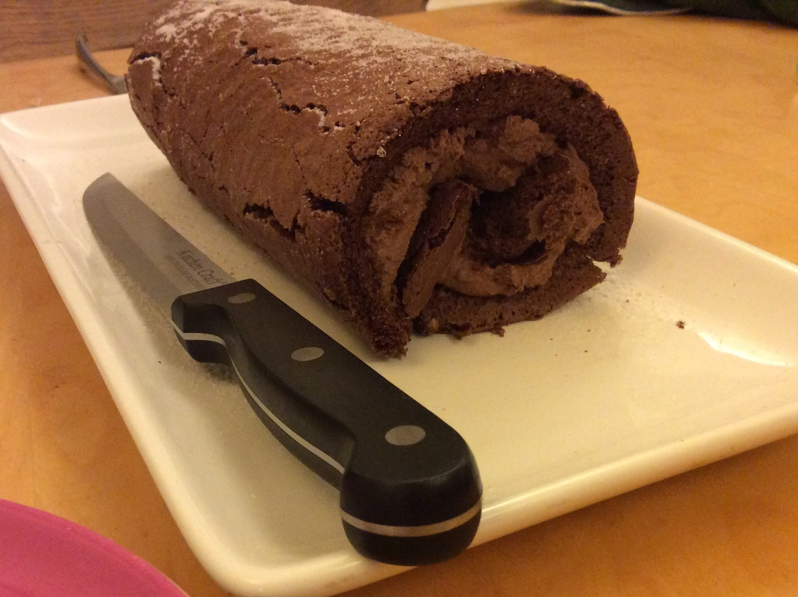 chocolate mousse roulade