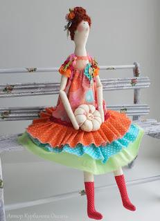 текстильная интерьерная кукла ручная работа купить продается