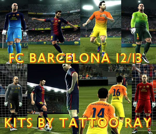 PES 2012 Barcelona FC 2012/13 Kits by Tattoo Ray