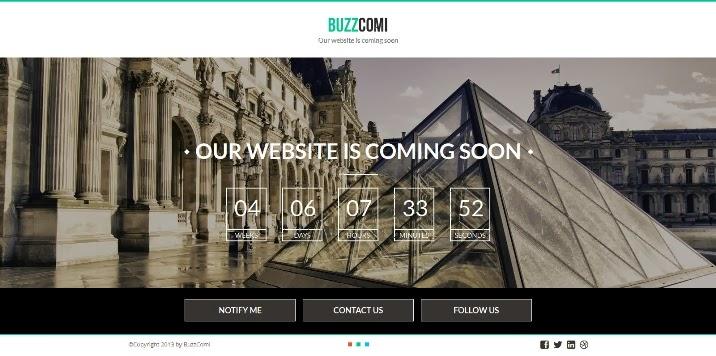 BuzzComi - Responsive HTML5 Coming Soon Template