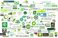 green leafy eco enviro environmental logo design