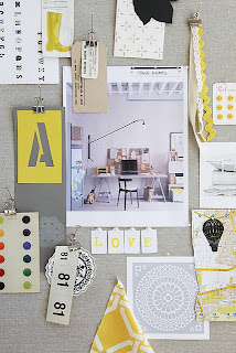 lemon yellow inspiration board