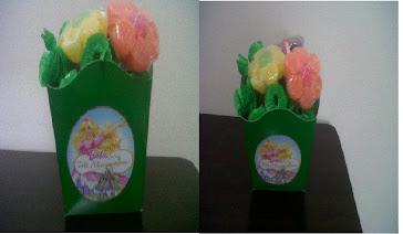 Cachepot com Flores de JuJuba e Foto