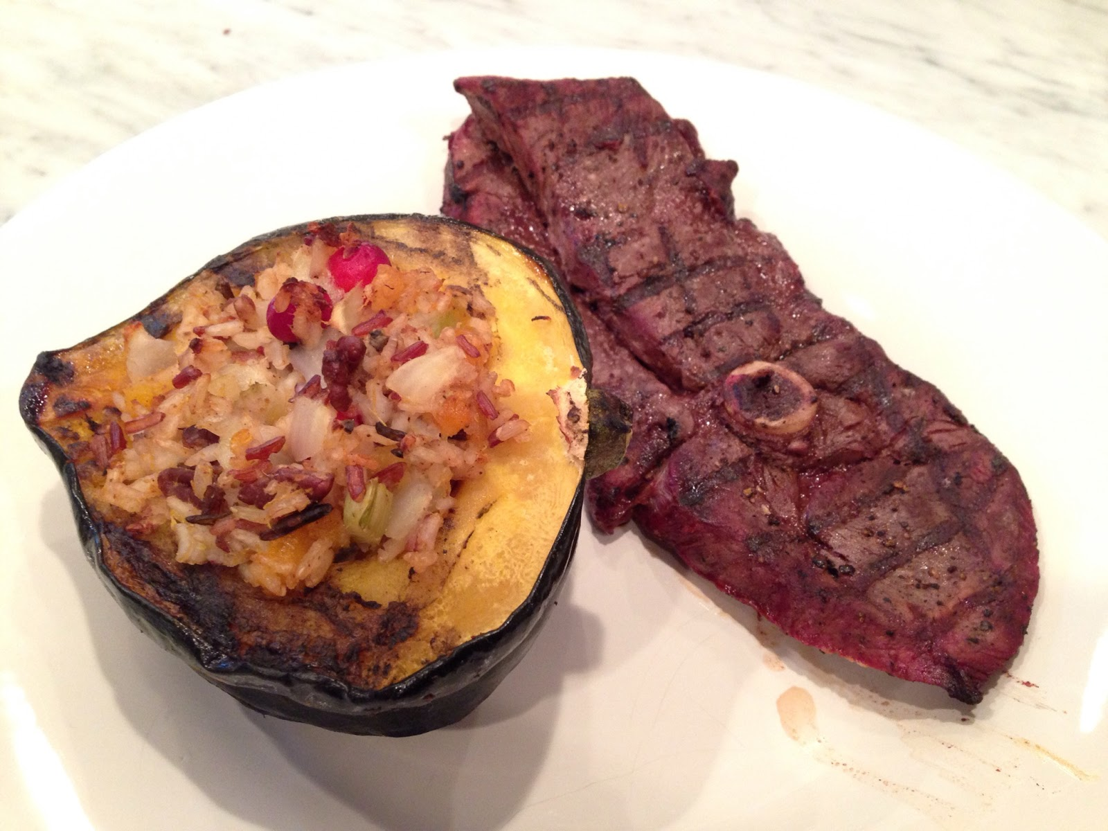 Venison And Wild Rice Stuffed Acorn Squash Recipe — Dishmaps