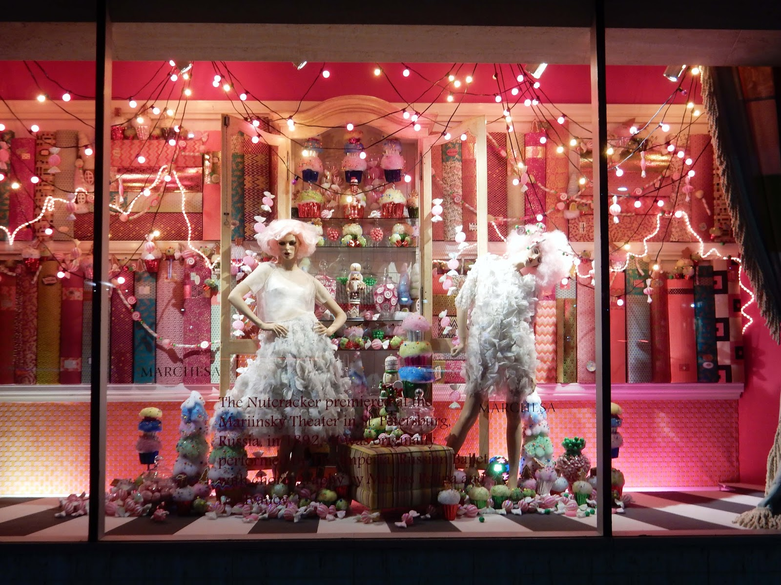 Nutcracker Ballet Marchesa dresses Neiman Marcus Holiday window Beverly Hill