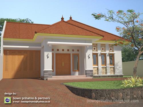 bowo prihatno partners rumah 1 lantai dengan atap limasan