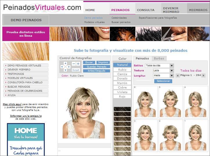 Peinados Virtuales Con Tu Foto - Volver a P&R Características Página Principal +++ Virtual Hairstyle