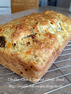 Cheddar, Chive and Sun-Dried Tomato Buttermilk Bread | Addicted to Recipes