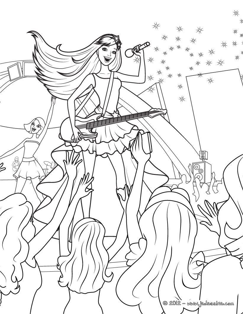 free coloring pages of barbie fashionistas