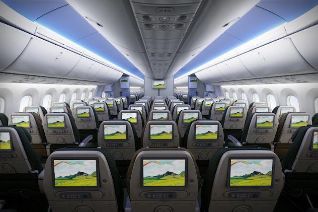 Ethiopian Airlines boeing 787 dreamliner inside