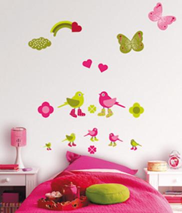 Muebles y decoraci n de interiores decoiluzion stickers for Stickers pared bebe