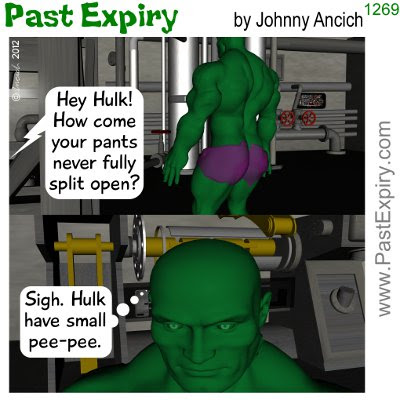Cartoon about clothes, Hulk, 