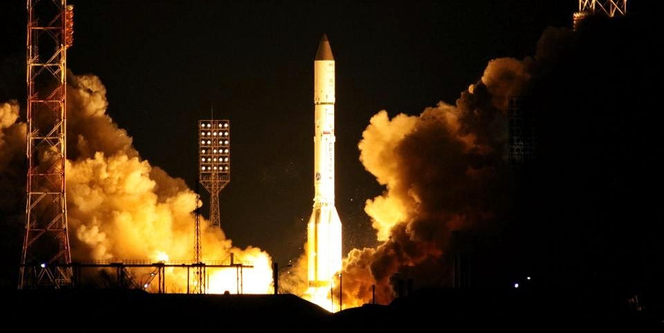 Astra 2G satellite launched onboard an ILS Proton at 3:37 a.m, Dec. 28, 2014. Credit: ILS