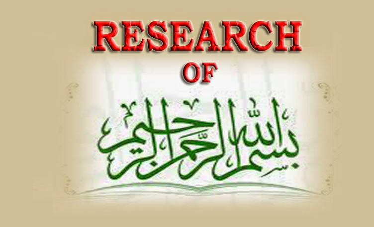 RESEARCH OF BISMILLAH