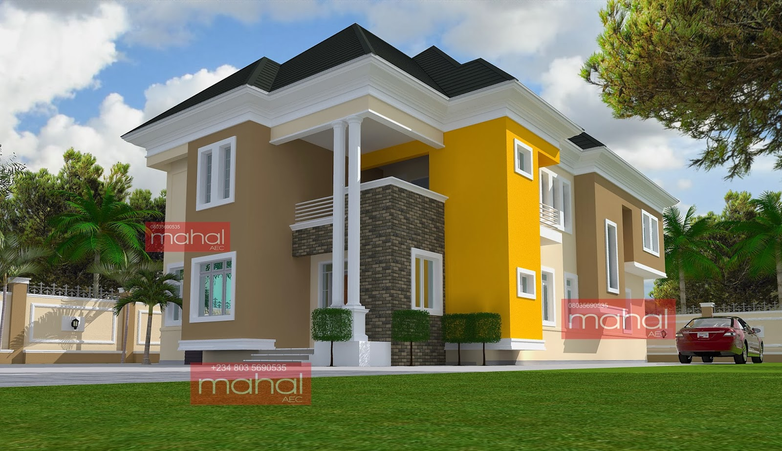 blog+(81) - Download 4 Bedroom Residential Modern Duplex House Designs In Nigeria PNG