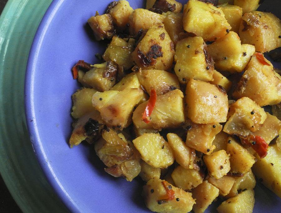 "Studio and Garden: Spicy Indian Potatoes, ""Batata Bhaji"""