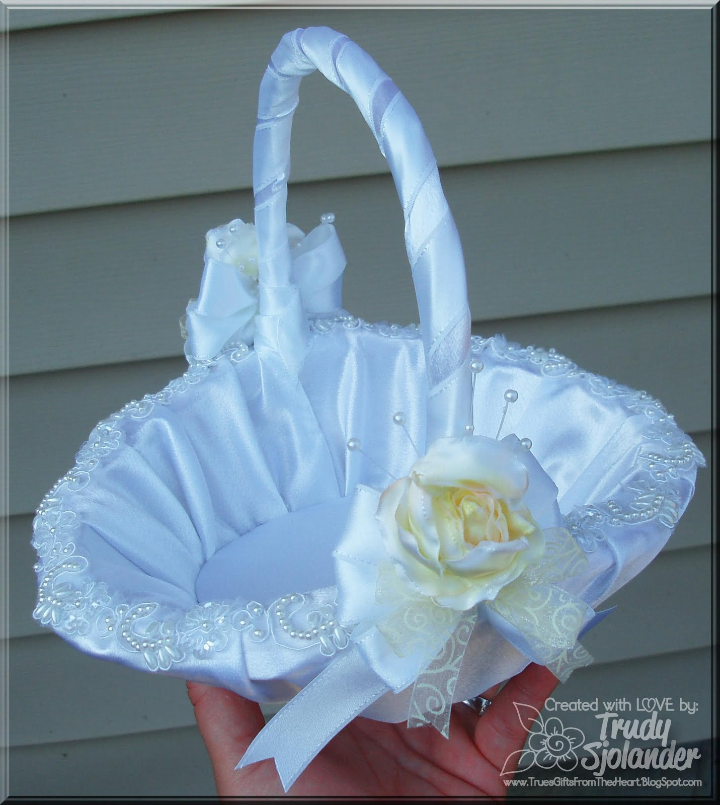 How To Make A Basket For Flower Girl : Really reasonable ribbon decorate your wedding with