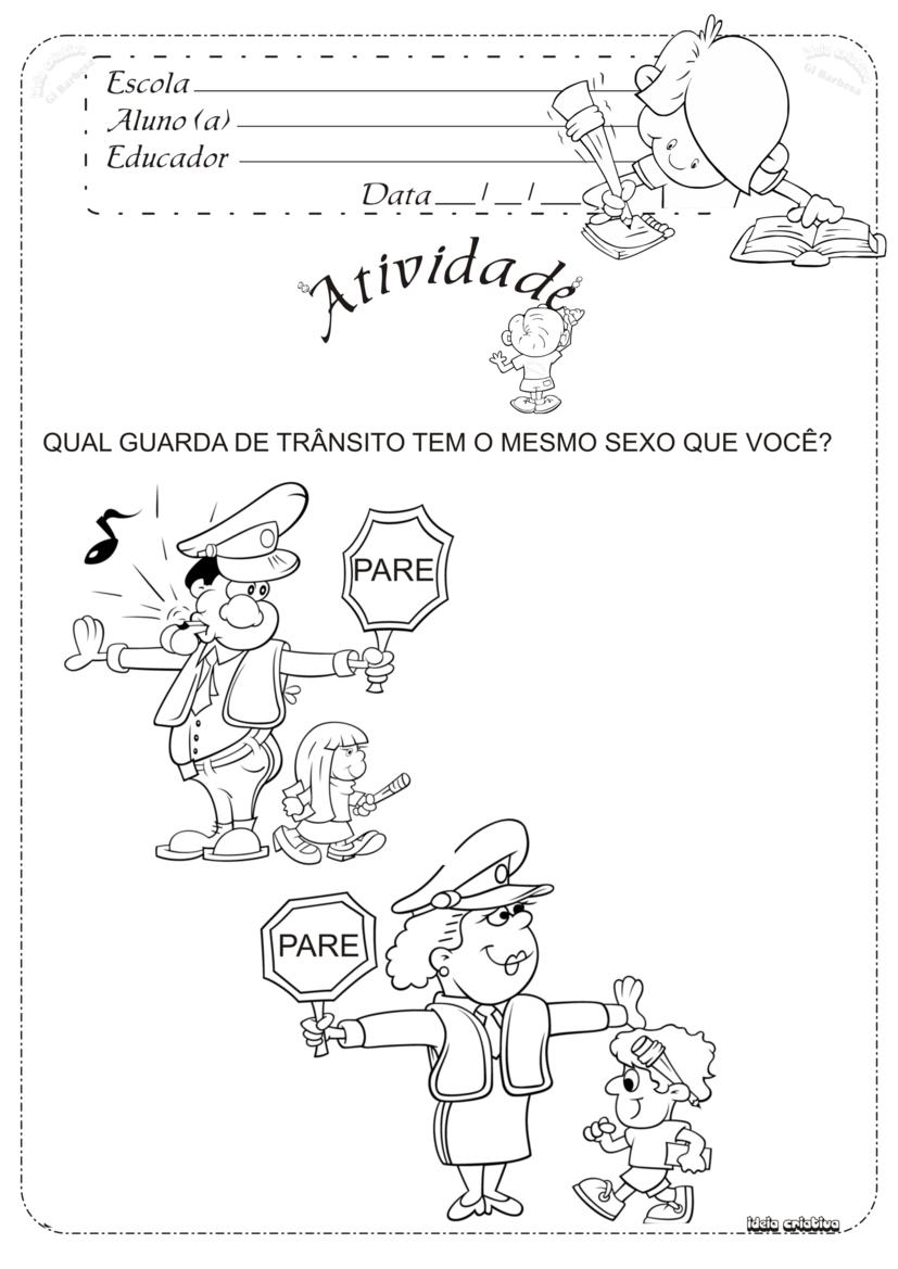 Super Atividade Trânsito | Ideia Criativa - Gi Barbosa Educação Infantil NR23