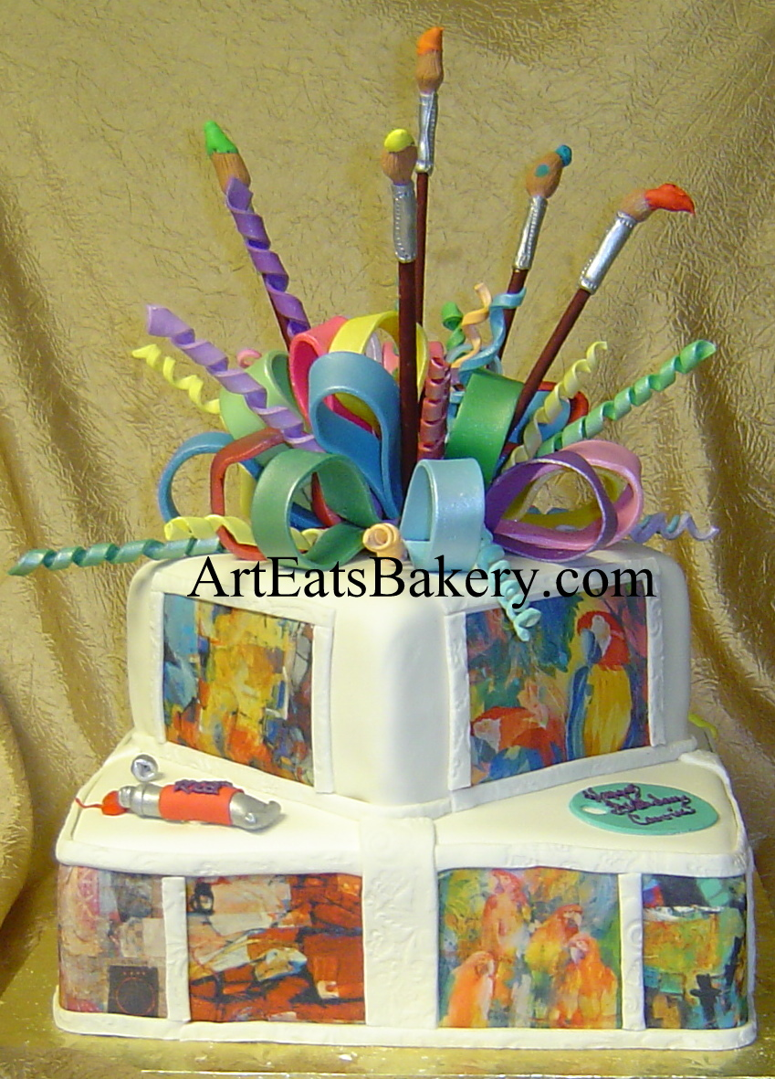 Cake Name Art : Art Eats Bakery custom fondant wedding and birthday cake ...