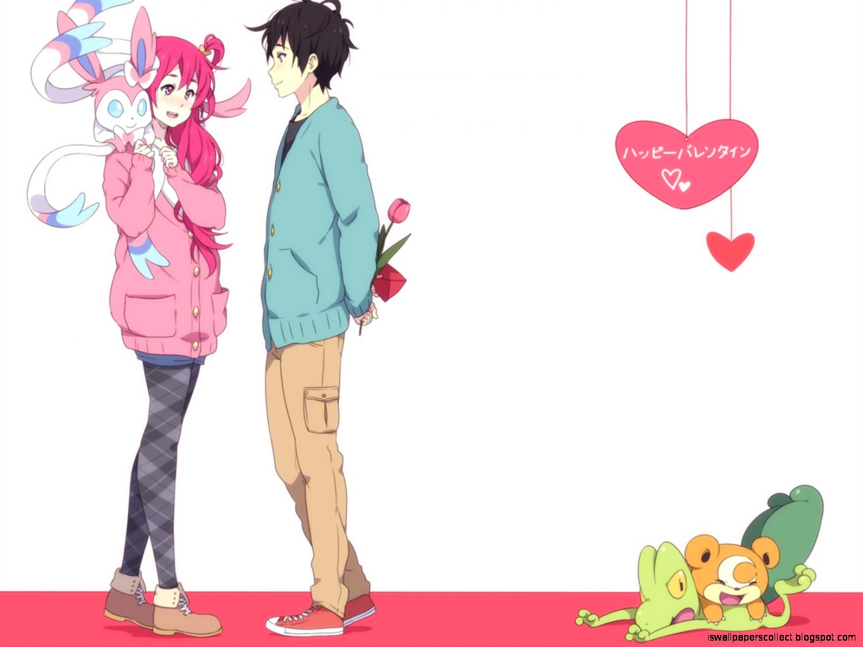 Anime valentine wallpaper
