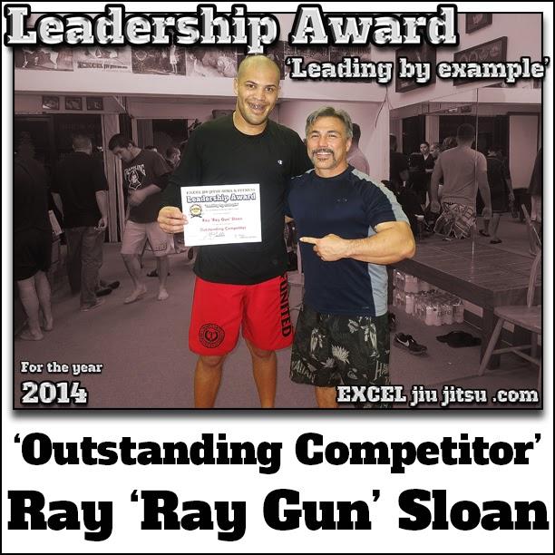 No-Gi Jiu-Jitsu award presented to Ray Sloan from BJJ coach Michio Grubbs