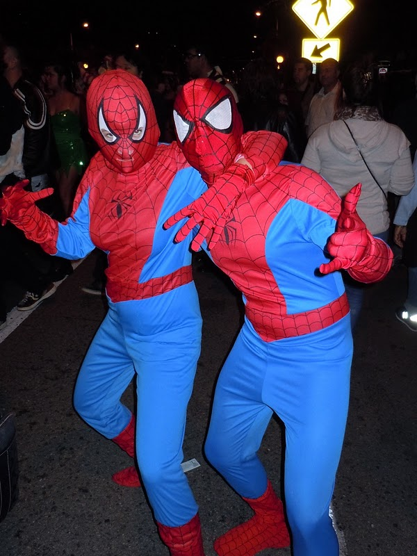 West Hollywood Halloween spiders 2010