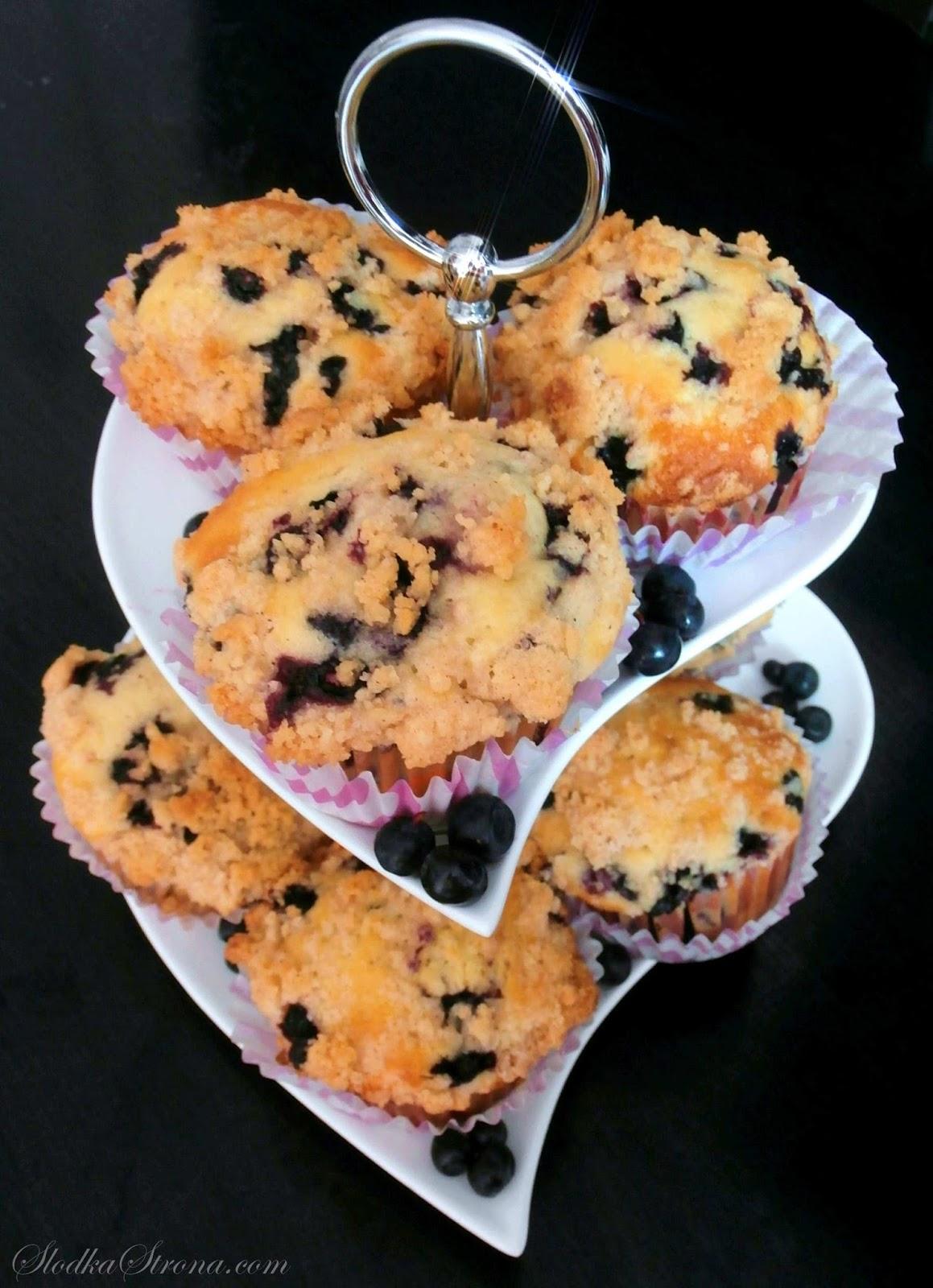 Muffinki z Jagodami i Cynamonową Kruszonką Marthy Stewart