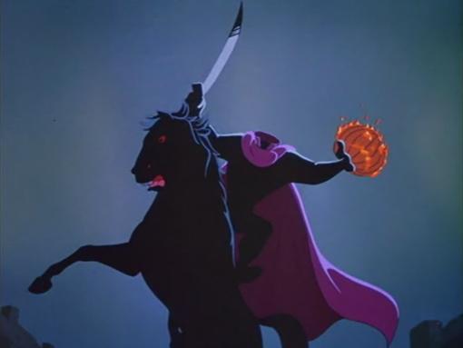 Imagen icónica del Jinete con la Jack O'Lantern
