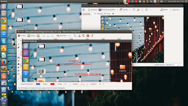 Programa para captura de tela no Ubuntu