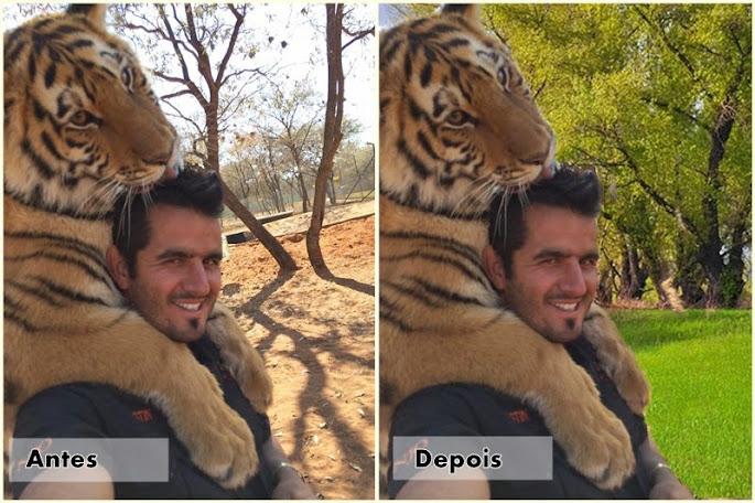 fundo da foto antes e depois