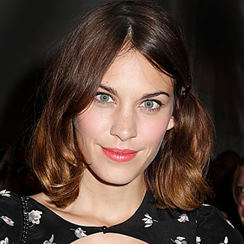 Alexa Chung hair - The Playful Bob