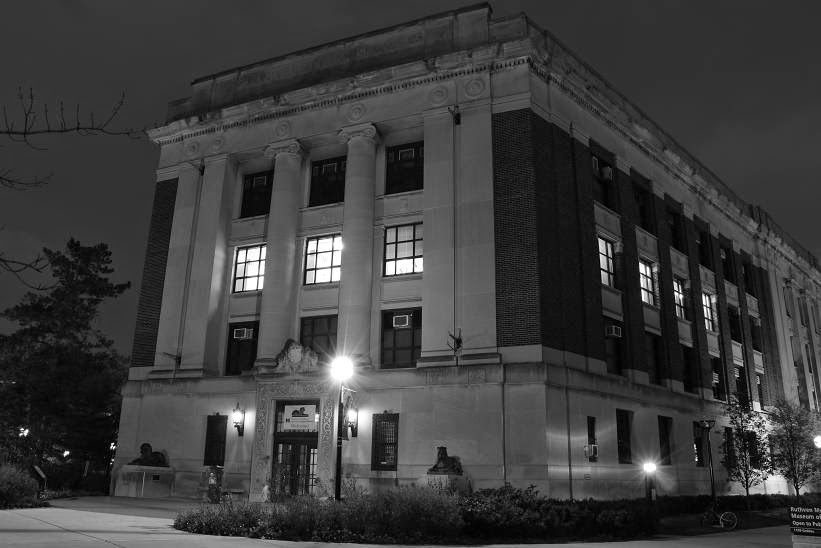 Natural Looking Buildings : Michigan exposures ann arbor in black and white