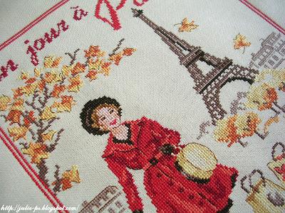 Les brodeuses parisiennes, Un jour à Paris en Automne, Париж, вышивка крестом, Париж, парижанка, вышивка