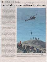 Rénovation croix sommet Alcudina