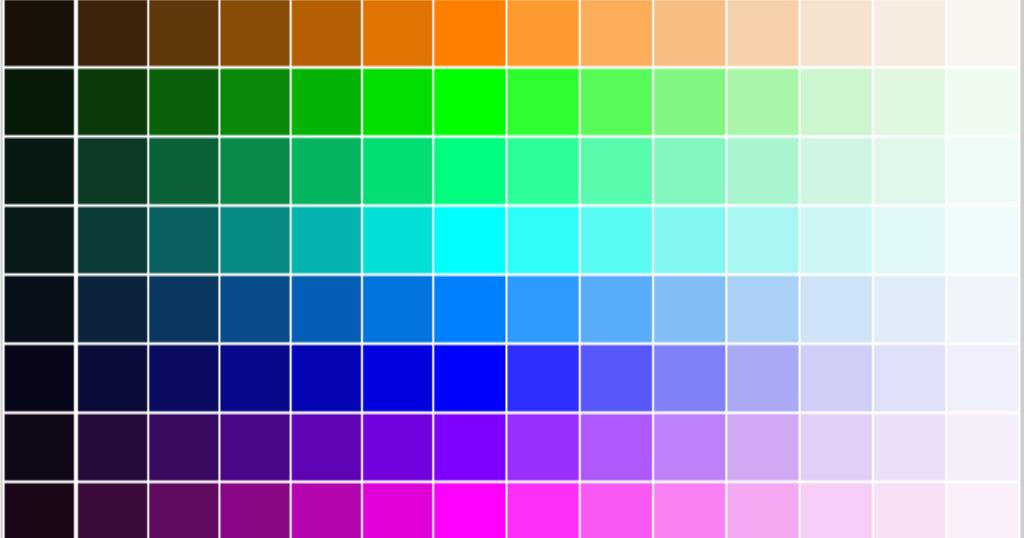 warna dan kode untuk aplikasi coreldraw