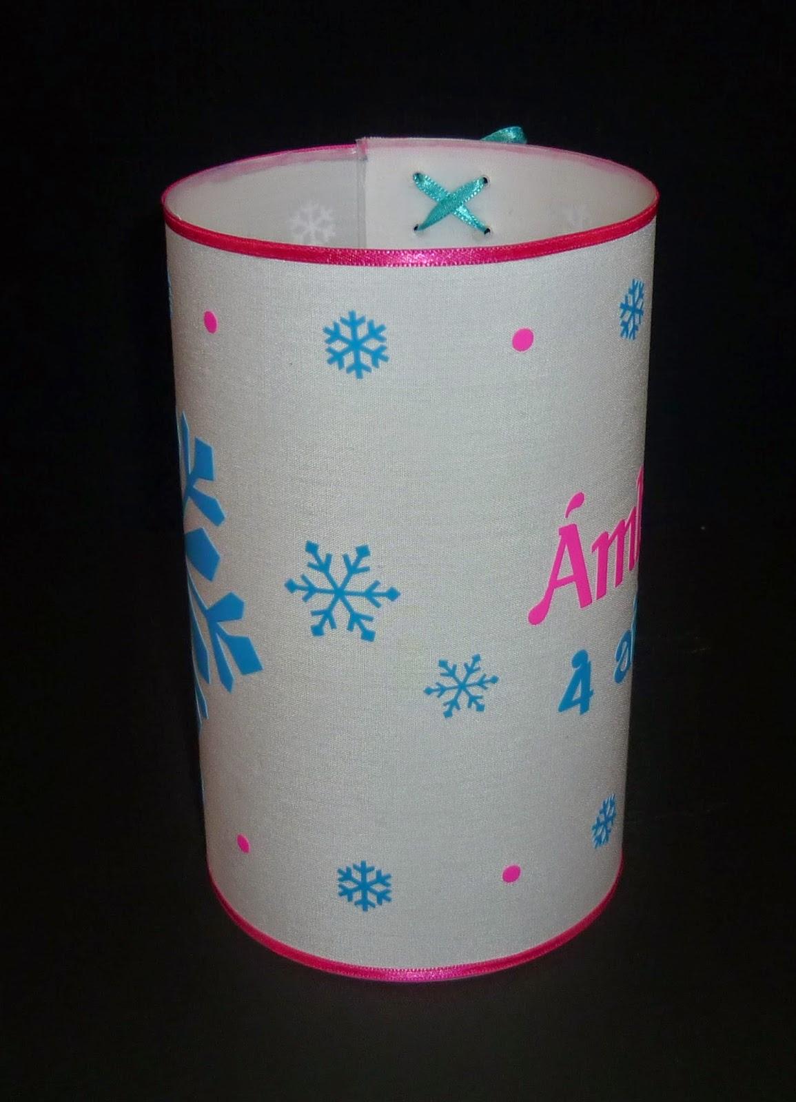 Minimandy. Centro de Mesa. Frozen. Elsa. Copo de Nieve. Snowflake. Souvenir. Velas. Pantallas.